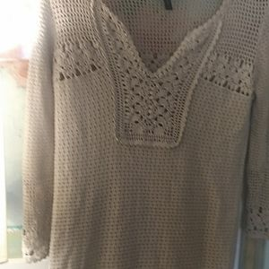 Crochet knit dress